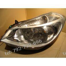 Renault Scenic prawa lampa przód, uszkodzone zaczepy