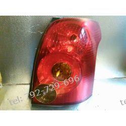 Toyota Avensis prawa lampa tył, kombi +listwa chrom Lampy tylne