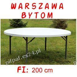 Stół bankietowy cateringowy okrągły FI: 200 cm