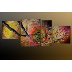 """Obrazy nowoczesne płaskorzeźbione """"przykładowa nazwa"""" 3 elementy 90x100cm"""