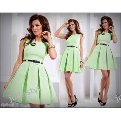jokastyl* Rozkloszowana sukienka miętowa XL 42