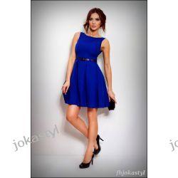jokastyl Chabrowa rozkloszowana sukienka PASEK XL 42