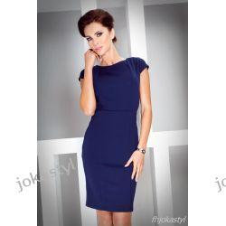 3787ceb2f7 Jokastyl  Elegancka Granatowa Sukienka Xl 42