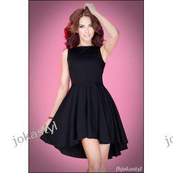 d30a87c3ef Jokastyl Asymetryczna Czarna Sukienka L 40