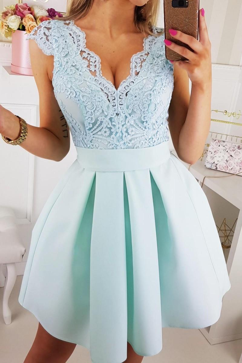 85ae6fef79 Jokastyl Śliczna Sukienka Z Wiązaniem Koronka Xs S M L