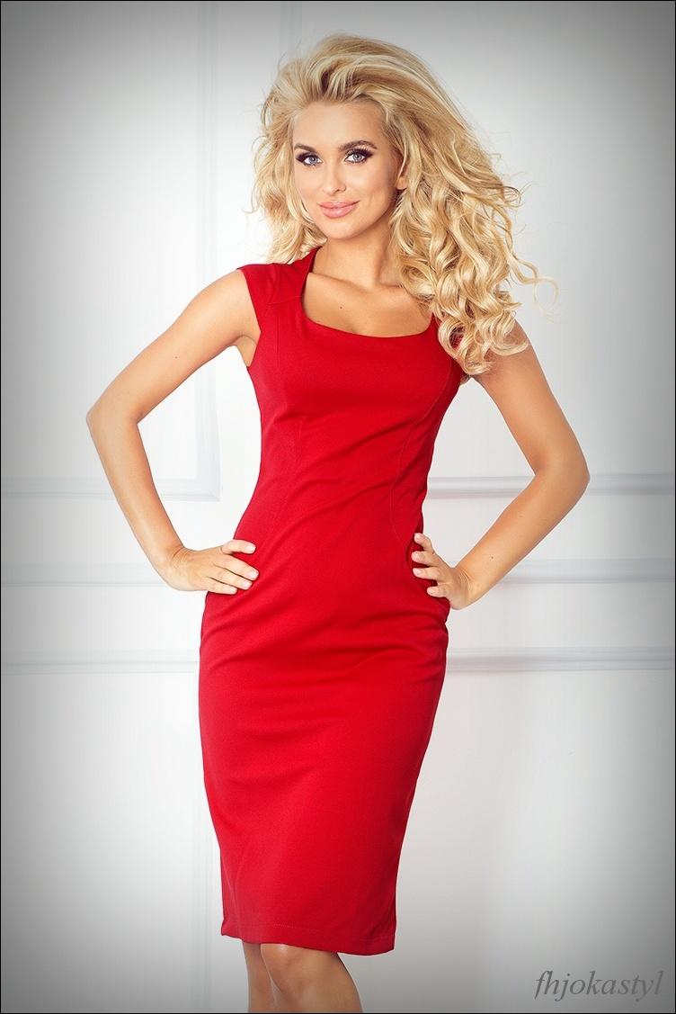 c06987c81c Jokastyl Ołówkowa Sukienka Czerwona Xl 42