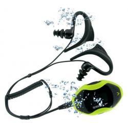 Odtwarzacz MP3 AquaBeat 2.0 4 GB żółty  + Opaska na ramię na odtwarzacz MP3 Aquabeat + Słuchawki waterproof Flex All Sport CB1 z...
