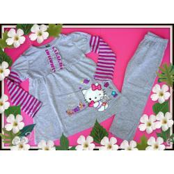 HELLO KITTY tunika+legginsy kpl.2cz.104(3-4L)SZARY