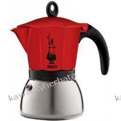 BIALETTI MOKA INDUCTION RED kawiarka aluminiowa 6/300ml
