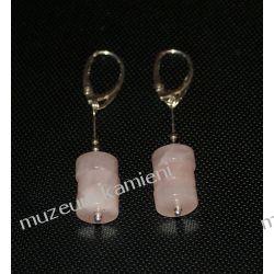 Kolczyki z kwarcu różowego w srebrze