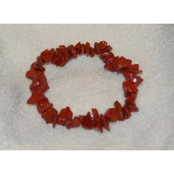 Bransoletka jaspis czerwony