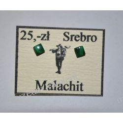 Piękne kolczyki z malachitu w srebrze KWK082