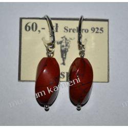 Piękne kolczyki z jaspisu czerwonego w srebrze KW151