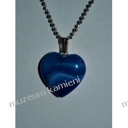 Piękny agat wisior w kształcie serca W071