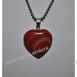 Agat piękny wisior w kształcie serca W089