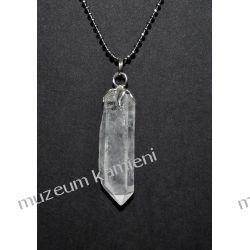 Naturalny kryształ górski w srebrze WA176