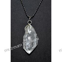 Naturalny kryształ górski w srebrze WA175