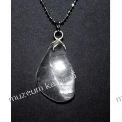 Piękny wisior z kryształu górskiego w srebrze WA167