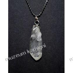 Naturalny kryształ górski w srebrze WA177