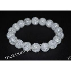 Piękna bransoleta z kryształu górskiego na gumce BB33