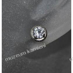 Kolczyki w srebrze KWK027 - cyrkonia