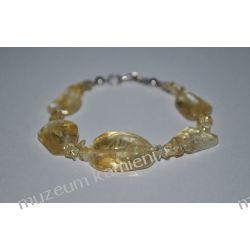 Bransoletka z cytrynu w srebrze B178