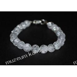 Kryształ górski - piękna bransoletka w srebrze B170