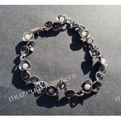Przepiękna bransoleta z pereł w srebrze B147 - 20,8 cm