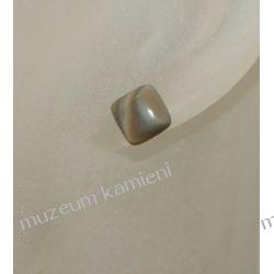 Kolczyki kwadraciki z krzemienia pasiastego w srebrze KWK016