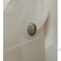 Kolczyki z krzemienia pasiastego w srebrze KWK031