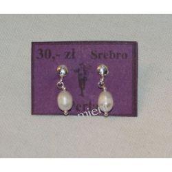 Kolczyki z pereł w srebrze KWK072