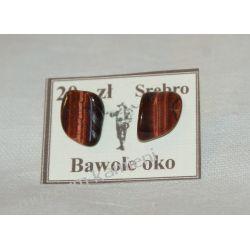 Bawole oko kolczyki ze srebra KWK008