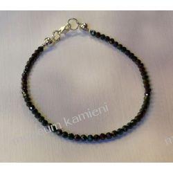 Spinel - przepiękna bransoletka w srebrze B231 - długość 16,9 cm