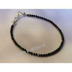 Spinel - przepiękna bransoletka w srebrze B07 - długość 19 cm