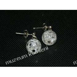 Kolczyki z kryształu górskiego kulki KWK100
