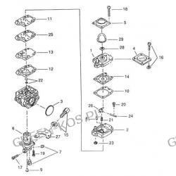 Gaźnik Efco TS327;327L Oleo-Mac HT27;27L