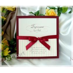 Zaproszenie na ślub kwadratowe ZP28 Zaproszenia, zawiadomienia