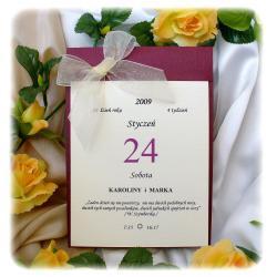 Zaproszenia ślubne w formie kalendarza