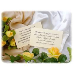 Osobna wkładka do zaproszeń / własny tekst Zaproszenia, zawiadomienia