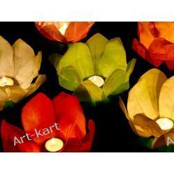 Lampiony pływające, wodne lilie + świeczka / mix 6szt  Zaproszenia, zawiadomienia