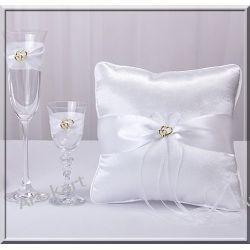 Poduszka pod obrączki kwadrat złota kolekcja Zaproszenia, zawiadomienia