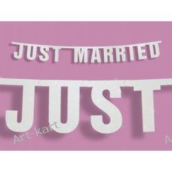 """Baner weselny """"Just Married"""", 16 x 170 cm Zaproszenia, zawiadomienia"""