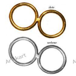 Obrączki złote lub srebrne 50cm / 1 para