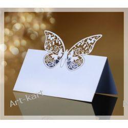 Wizytówki (winietki) na stół z motylkiem WS51/ 10szt Zaproszenia, zawiadomienia