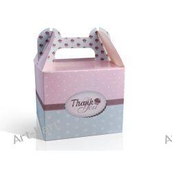 Pudełka na ciastka/ciasto z podziękowaniem - małe / 10szt PUDCSM2 Zaproszenia, zawiadomienia