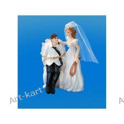Para Młoda - Pan młody przywiązany, figurka na tort 11cm PF39 Zaproszenia, zawiadomienia