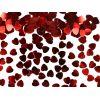 Konfetti metalizowane czerwone serca 5mm  KONS14 / 30g