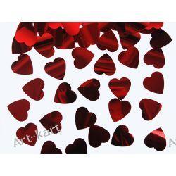 Konfetti metalizowane czerwone serca 25mm  KONS33 / 10g Zaproszenia, zawiadomienia