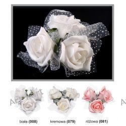 Bukiecik z róż na przyssawce 4szt / r. kolory Zaproszenia, zawiadomienia