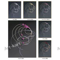 Wianuszki rattanowe z różyczkami 4szt / r. kolory